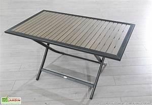Table Jardin Pliable : table jardin pliable table terrasse maisondours ~ Teatrodelosmanantiales.com Idées de Décoration