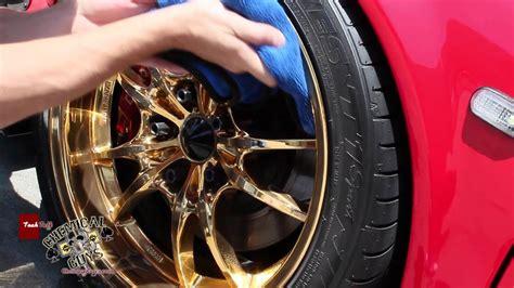 clean custom gold wheels part  chemical guys
