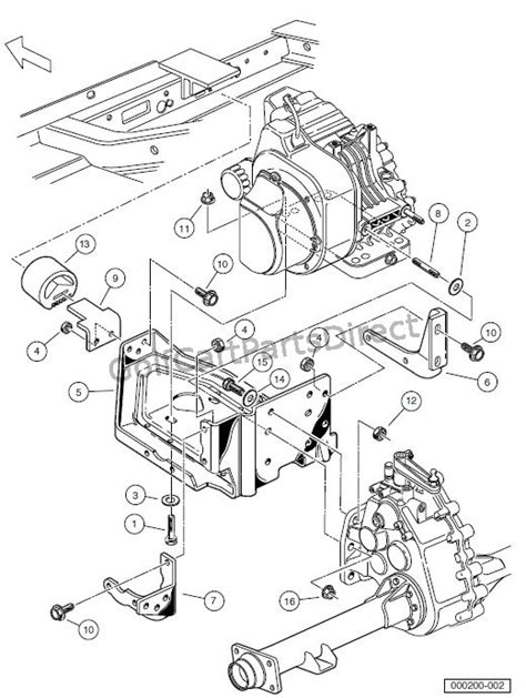Wiring Diagram For 2005 Clubcar 48 Volt by Engine Engine Mounting Turf Carryall 252 And 2 Xrt