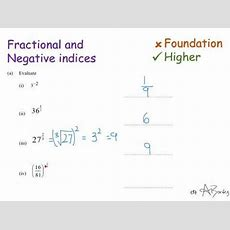 Fractional And Negative Indices Youtube
