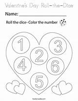 Dice Coloring Roll Valentine Built California Valentines sketch template