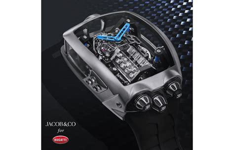 The bugatti chiron tourbillon almost serves the timekeeping as a side dish: Jacob & Co. Unveils $280,000 Bugatti Chiron 16-Cylinder Tourbillon