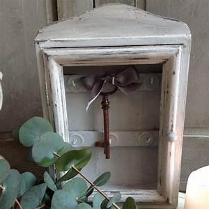 Boite A Clefs : boite clefs ancienne en bois patin e gris gustavien ~ Teatrodelosmanantiales.com Idées de Décoration