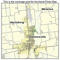 Aerial Photography Map of Connersville, IN Indiana