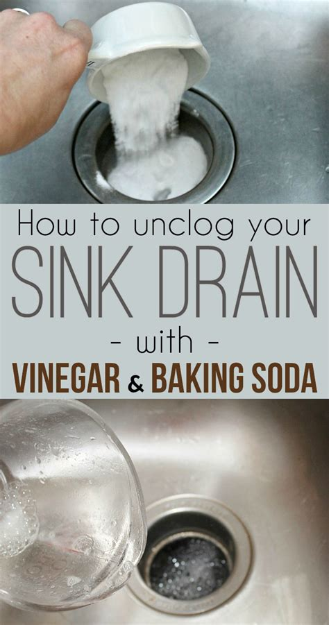 clogged sink vinegar baking soda how to unclog a kitchen sink drain with baking soda and