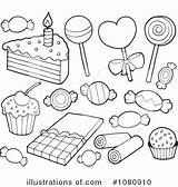Coloring Dessert Desserts Clipart Illustration Royalty Drawings Visekart Rf 78kb 300px sketch template