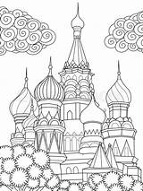 Coloring Cathedral Simple Vector Colouring Arte Basil Banderas Basils Colorear Mundo Imagenes Colourbox Catedral Lineal Basilio Linea San Coloriage Dibujos sketch template