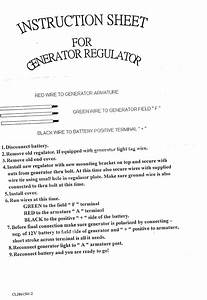 Electronic Regulator Instructions