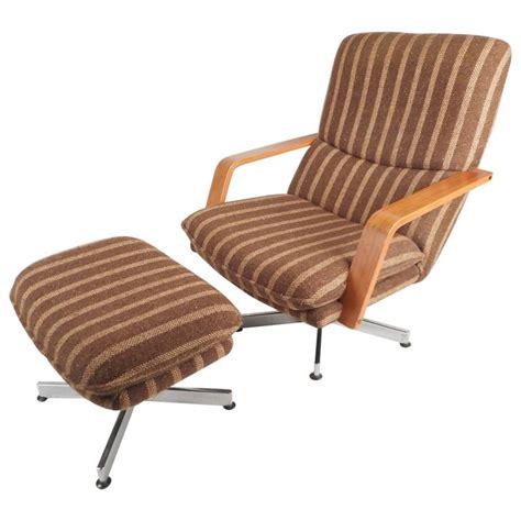 modern lounge chair with ottoman mid century modern teak and chrome swivel lounge chair