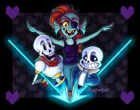 Undertale Undyne and Papyrus