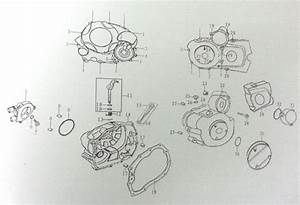 Gas39 Right Crankcase Cover Gasket For Bashan Bs200s