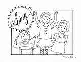 Coloring Singing God Pages Children Praising Lord Clipart Church Sunday Worship Preschool Printable Praise Sheets Bible Childrens Print Cartoon Kinder sketch template