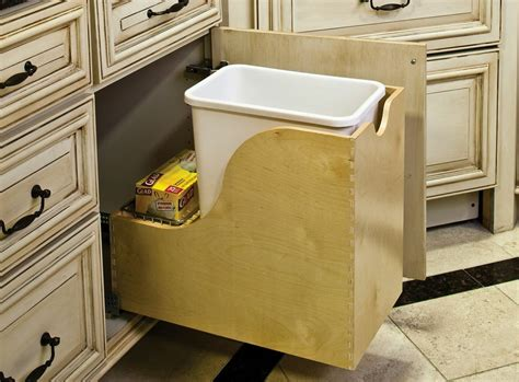 under cabinet trash bins under cabinet trash can gallon pullout trash can