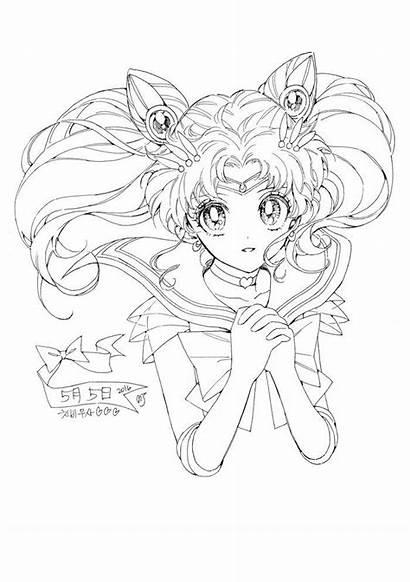 Sailor Moon Coloring Chibi Chibiusa Fan Manga