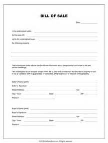 Bill Of Sale Template by Free Printable Equipment Bill Of Sale Template Form Generic