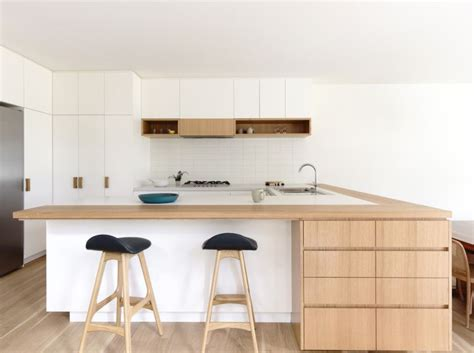 cuisine blanche plan de travail bois inspirations de déco