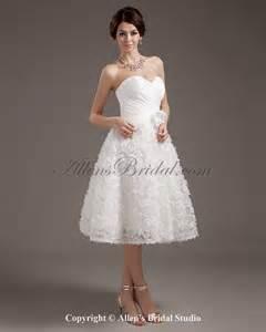 knee length wedding dresses allens bridal satin sweetheart knee length gown wedding dress