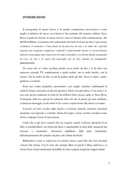 Vasco Laurea by Vasco Una Musica Senza Messaggio Tesi Di Laurea