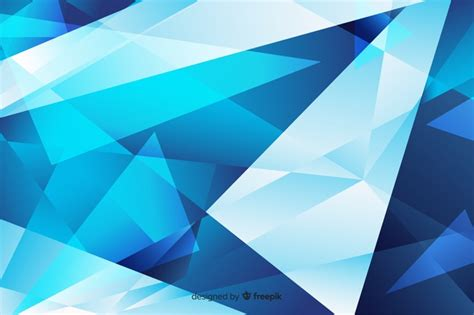 Abstract Blue Shapes Background by Abstract Blue Sharp Shapes Background Vector Free