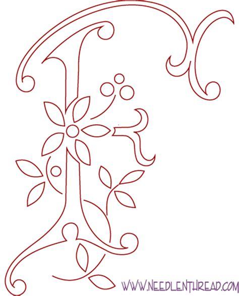 monogram patterns  hand embroidery letters    needlenthreadcom