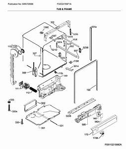 Frigidaire Fgid2479sf1a Dishwasher Parts