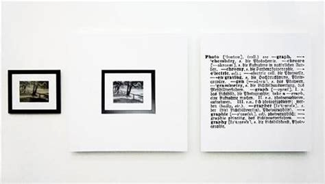one and three photograph english german joseph kosuth