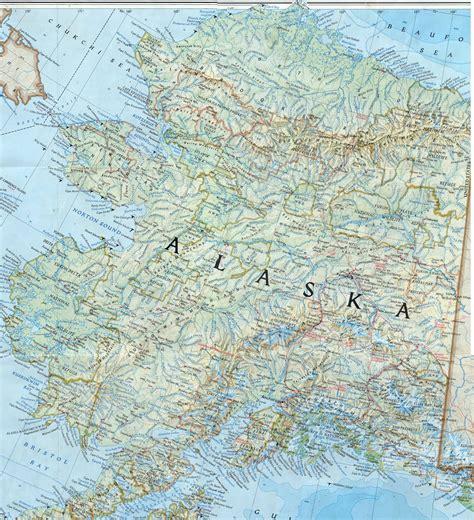 Detailed Image Large Detailed Topographical Map Of Alaska Alaska Large
