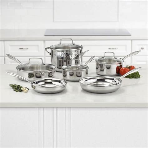cookware cuisinart stainless steel tri stoves glass ply piece silver pc tps amazon induction discount shown choice extra save checkout