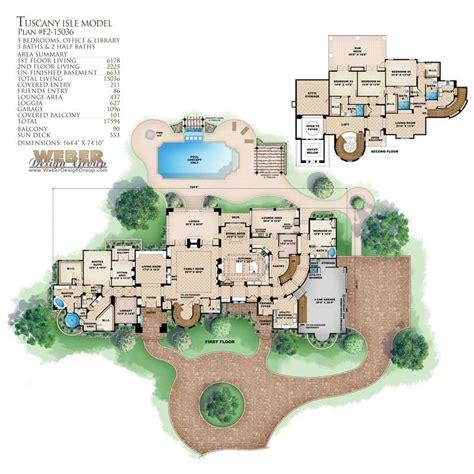 Tuscan House Plans  Home Design Wdgf215036
