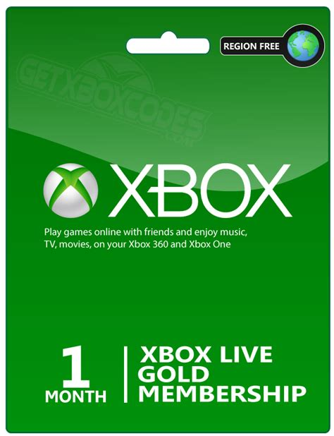 Maybe you would like to learn more about one of these? Xbox Live 1 month digital code /ww - Prepaid Gaming Cards