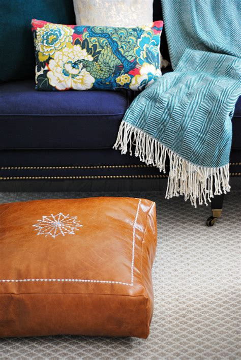 moroccan floor pillows diy moroccan leather pouf the chronicles of home