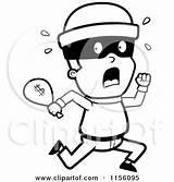 Coloring Running Clipart Burglar Bag Robber Cartoon Cash Money Criminals Vector Royalty Cory Thoman Bank Robbers Outlined Rf Clipartpanda Cops sketch template