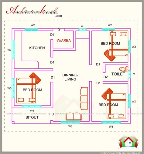 three home plans three bedroom house plan in kerala house design plans