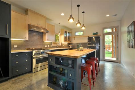 grey cabinets in kitchen glazed thin brick puts in industrial spin on a residential 4057