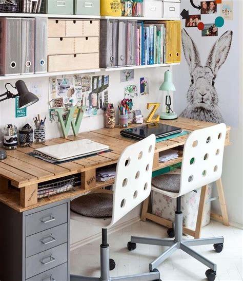 bureaux ikea bois bureau en bois 34 idées diy très cool en palette europe