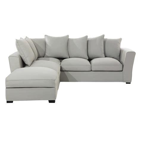 canapé d angle maison du monde canapé d 39 angle 5 places en coton gris clair balthazar