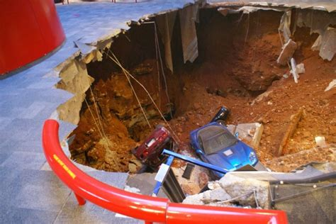 corvette museum sinkhole location corvette sinkhole 8 cars swallowed up by 40 foot