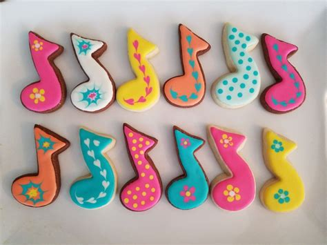 Make your own playlist of songs about love that's sweeter than sugar. Musical note cookies   Cookies, Sugar cookie, Sweets