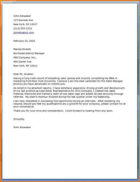 financial account manager cover letter cover letter for regional sales manager position