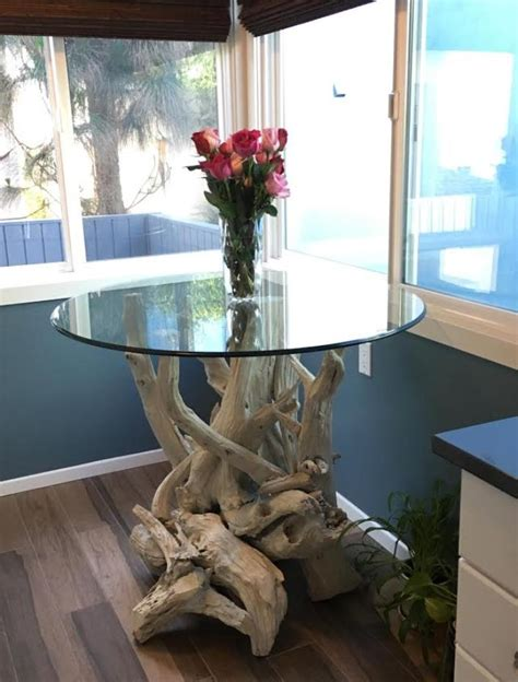 beautiful driftwood dining table hand crafted  gulf