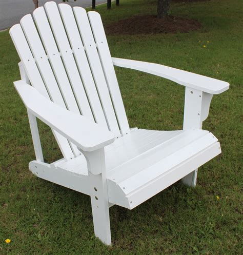 Outdoor Deck Chairs 7 slat hardwood wood adirondack chair outdoor deck pool