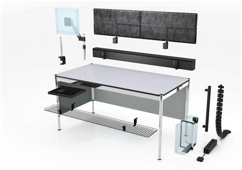 bureau hauteur ajustable table usm haller usm