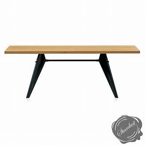 Table Jean Prouvé : vitra em table by jean prouve in solid natural oak oak ~ Melissatoandfro.com Idées de Décoration