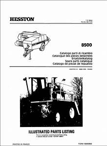 Hesston 8500 Parts Manual For Service Repair Tractor