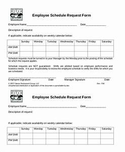 simple employee schedule template 7 free word pdf With restaurant work schedule template