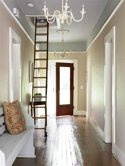 entryway with chandeliers attic stairs for old houses