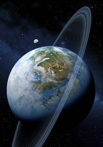 Ringed Earth-like Planet, Artwork Photograph by Detlev Van ...