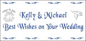 personalized wedding banners best wishes on your wedding personalized wedding banner appealing signs