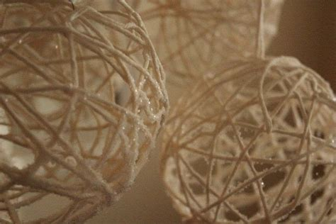 yarn snowballs     christmas decoration