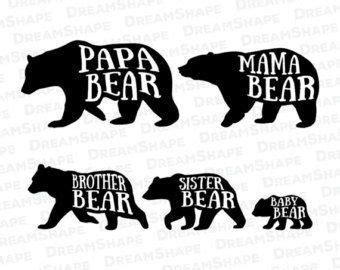 image result  bear family silhouette papa bear tattoo